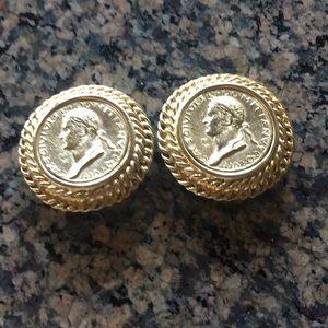 Coin clip earrings